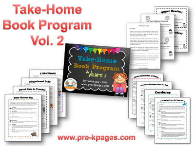 Take Home Book Program Volume 2 for #preschool and #kindergarten