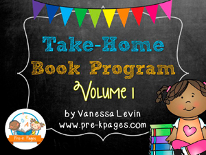 Take Home Book Program Includes Parent Contract, Reminder Notes for Late Books, Certificate, and Instruction Sheets for Parents for 8 different book titles #preschool #kindergarten