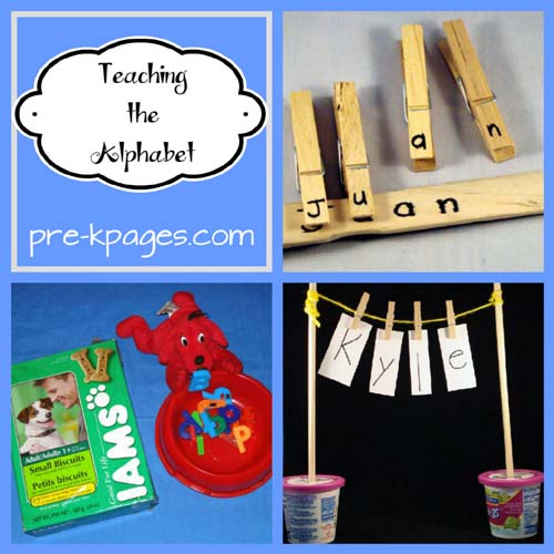 ideas for teaching the alphabet in preschool