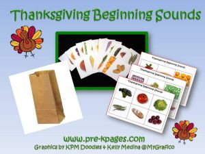thanksgiving beginning sounds game