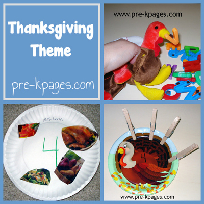 Thanksgiving Theme in Preschool