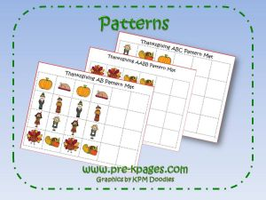 thanksgiving pattern activity