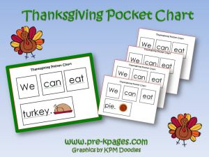 thanksgiving pocket chart activity