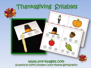 thanksgiving syllable activity