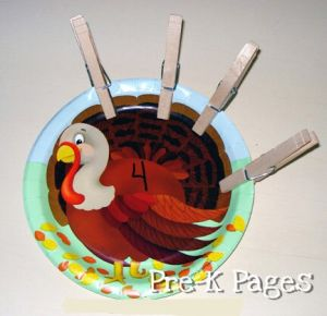 turkey clothespin activity