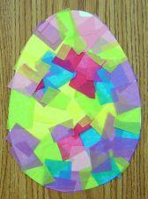 tissue paper egg