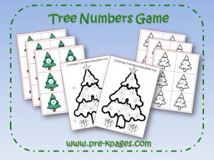 christmas tree number identification game