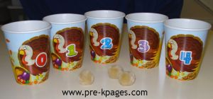 turkey counting cups