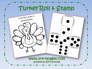 turkey roll and stamp activity