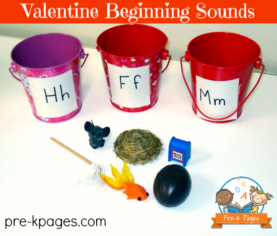 Valentine Beginning Sounds Activity for Pre-K and Kindergarten