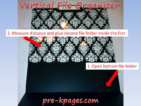 vertical file folder organizer tutorial step 1