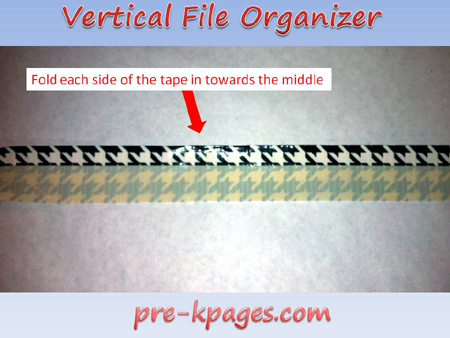 vertical file organizer tutorial step 4