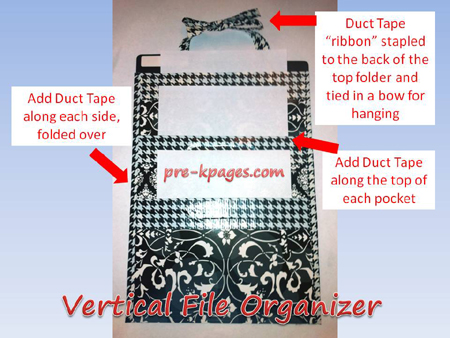 vertical file organizer step 5