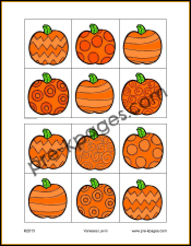 Free Printable Halloween Visual Discrimination Activity