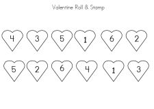 Valentine Roll and Stamp Game