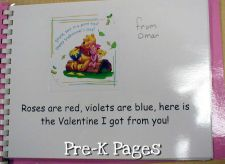 Valentine Book inside