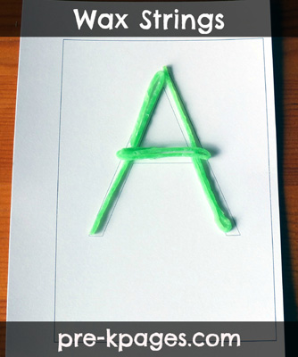 Using Wikki Stix to teach the alphabet via www.pre-kpages.com