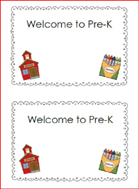 Free printable covers for your welcome to school packet via www.pre-kpages.com