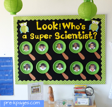 who's a super scientist bulletin board