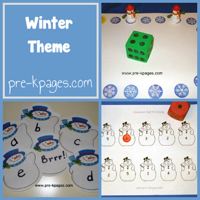 Winter Theme in Preschool