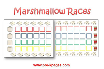 Printable Marshmallow Path Game via www.pre-kpages.com