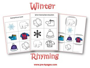 Winter theme activities for preschool winter rhyming sciox Gallery