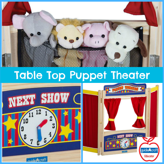 Guidecraft Table Top Puppet Theater Review and Giveaway