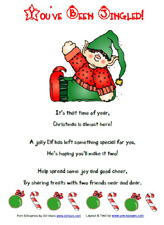 Free Printable You've Been Jingled Featuring DJ Inkers Clipart via www.pre-kpages.com