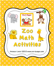 Zoo Math Activities for #preschool and #kindergarten
