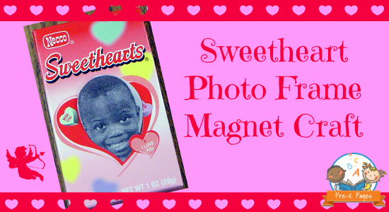 sweetheart photo frame magnet craft for preschool and kindergarten