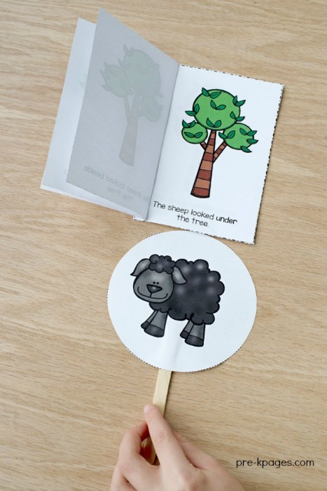 Printable Baa Baa Black Sheep Positional Words Book