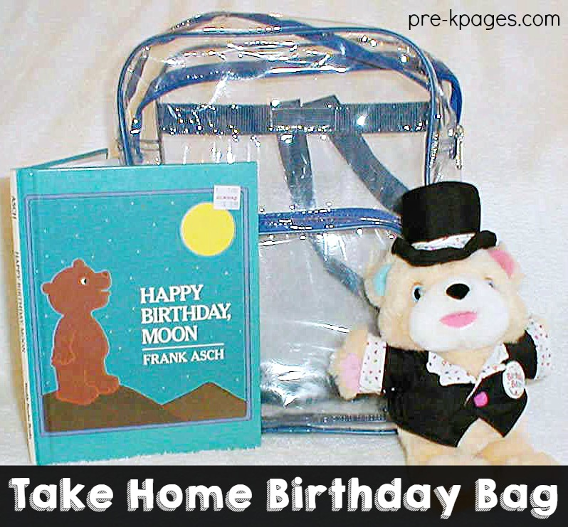 Birthday Bag for Celebrating Birthdays in Preschool and Kindergarten