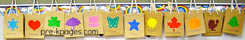 Birthday Bags with Sticks to Celebrate Birthdays in Preschool