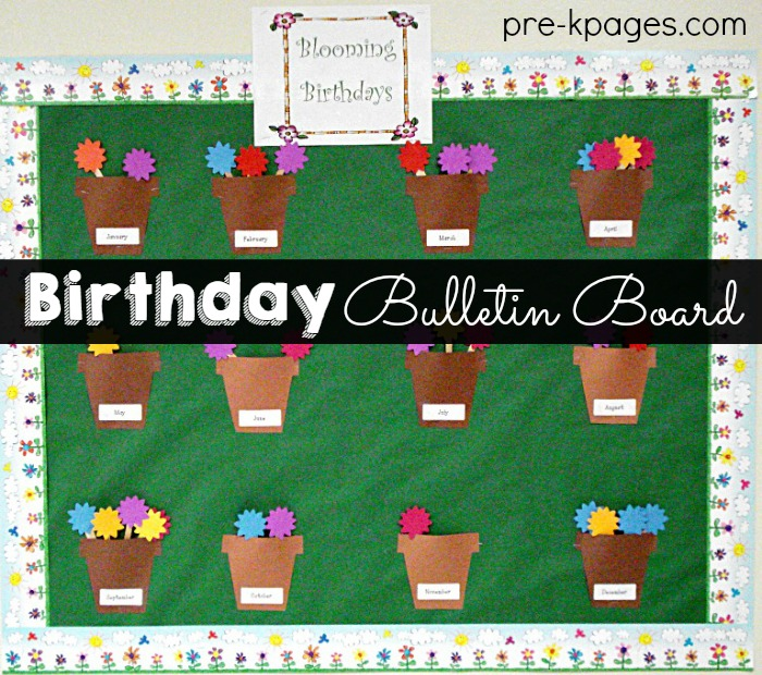 birthday chart ideas for preschool: Celebrating student birthdays in preschool pre k and kindergarten