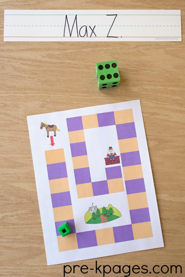 Humpty Dumpty Printable Board Game