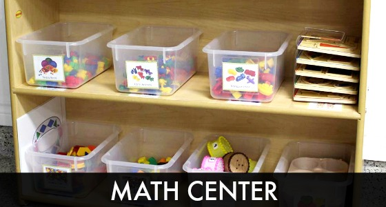 Classroom Enhancement Ideas ~ How to set up a math center in preschool or kindergarten