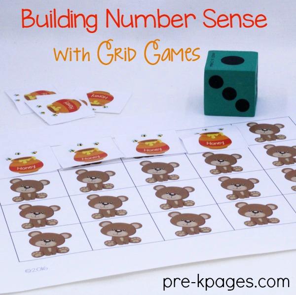 Printable Bear Grid Game