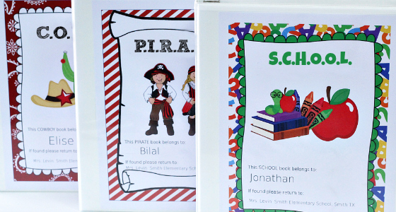 Printable Parent Communication Folders
