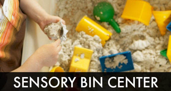 Preschool Sensory Bin Center