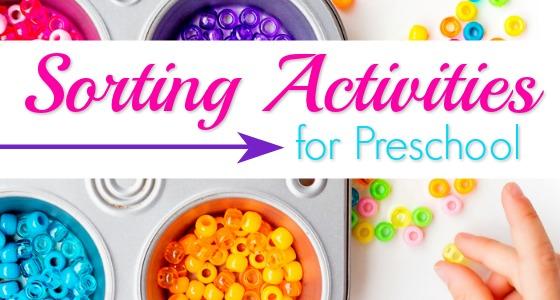 Sorting Activities for Preschoolers