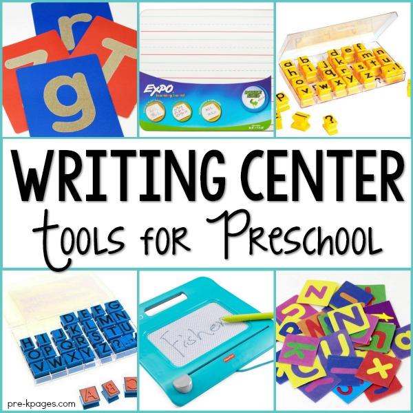 Writing Center Tools for Preschool