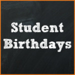 Celebrating Student Birthdays