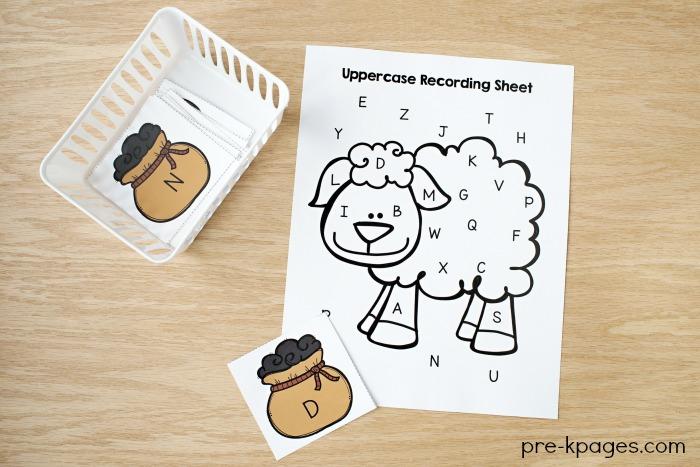 Baa Baa Black Sheep Nursery Rhyme ABC Game