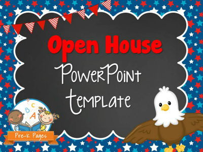 Eagle Open House PowerPoint Template for Preschool and Kindergarten