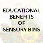 What are the educational benefits of sensory bins