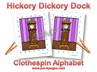 Hickory Dickory Dock Nursery Rhyme Alphabet Activity