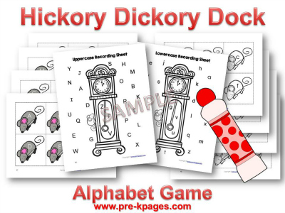 Hickory Dickory Dock Nursery Rhyme Letter Identification Game