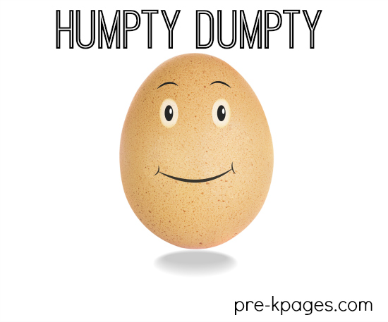 Humpty Dumpty Theme Activities for Preschool and Kindergarten