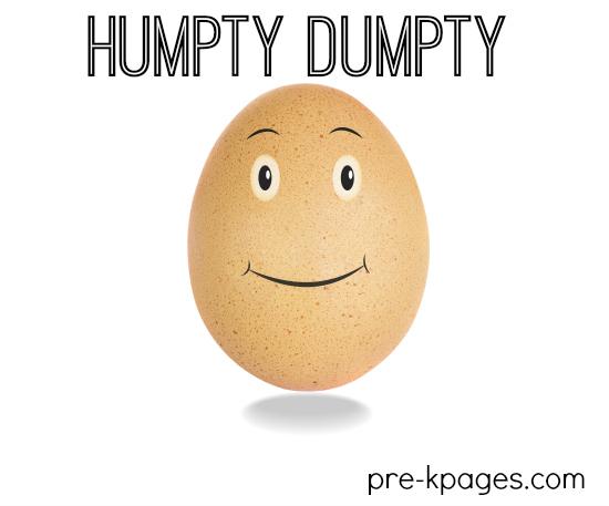 Humpty dumpty nursery rhyme theme in preschool humpty dumpty theme activities for preschool and kindergarten pronofoot35fo Image collections