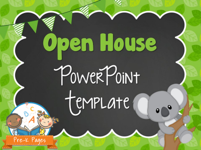 Koala Theme Open House Presentation Template for Preschool and Kindergarten
